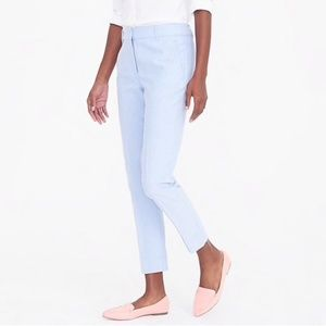 J. Crew Factory Cotton Oxford Crop Skimmer Pants